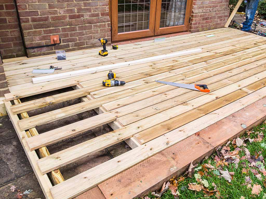 Installation-wood-deck